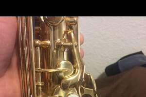 This saxophone was stolen from the main branch of the San Francisco Public Library, according to SFPD.