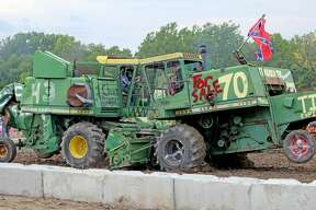 Scenes from the 2018 Huron Community Fair Combine Demolition Derby held Wednesday night.