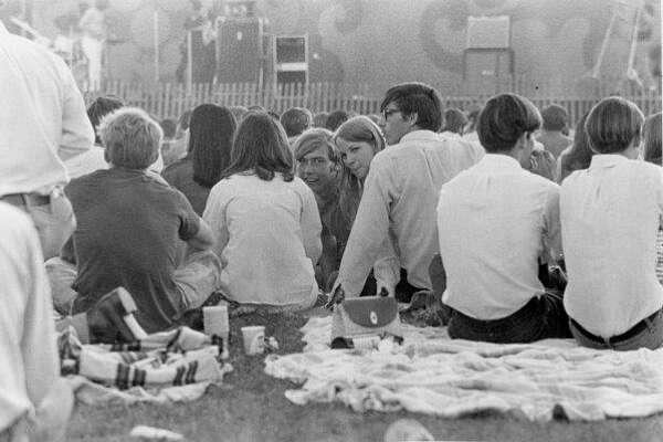 Part of the audience at the August 1969 rock concert at the Midland County Fairgrounds. (Daily News file photo)