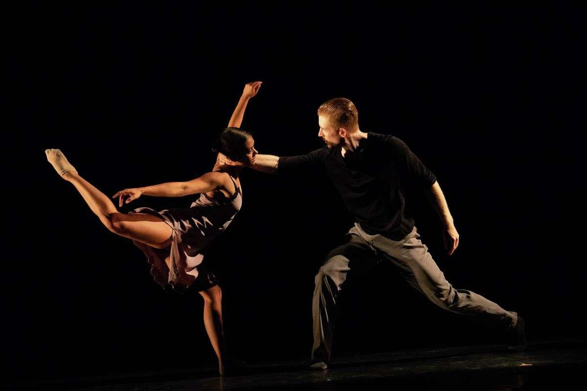Elliot Hammans and Alicia Delgadillo of Hubbard Street Dance Chicago in Alejandro Cerrudo's