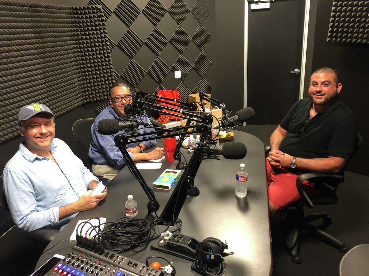 BBQ State of Mind podcast hosts J.C. Reid and Greg Morago talk to The Pit Room's Michael Sambrooks.