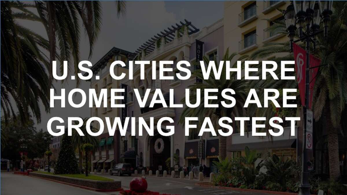 Click through the slideshow to see where home values are growing fastest in the U.S.