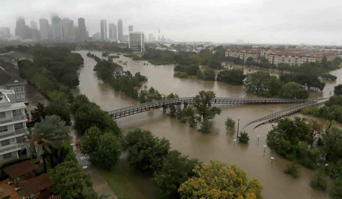 Which apartments flooded the worst during Harvey ? This search was obvious. I saw the catastrophic damage caused by Harvey from afar, and flooding was at front of my mind when looking for an apartment. As the search results showed, some areas near the Houston Chronicle office building didn't experience the amount of flooding as other neighborhoods. I still made it a point to find an apartment on the second floor in the Midtown area.