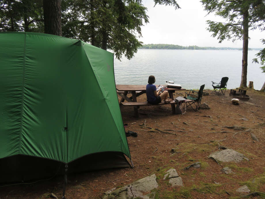 A peaceful campsite at Wellesley Island State Park in Jefferson County. (Herb Terns/Times Union) Photo: Herb Terns/Times Union