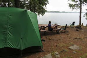 A peaceful campsite at Wellesley Island State Park in Jefferson County. (Herb Terns/Times Union)