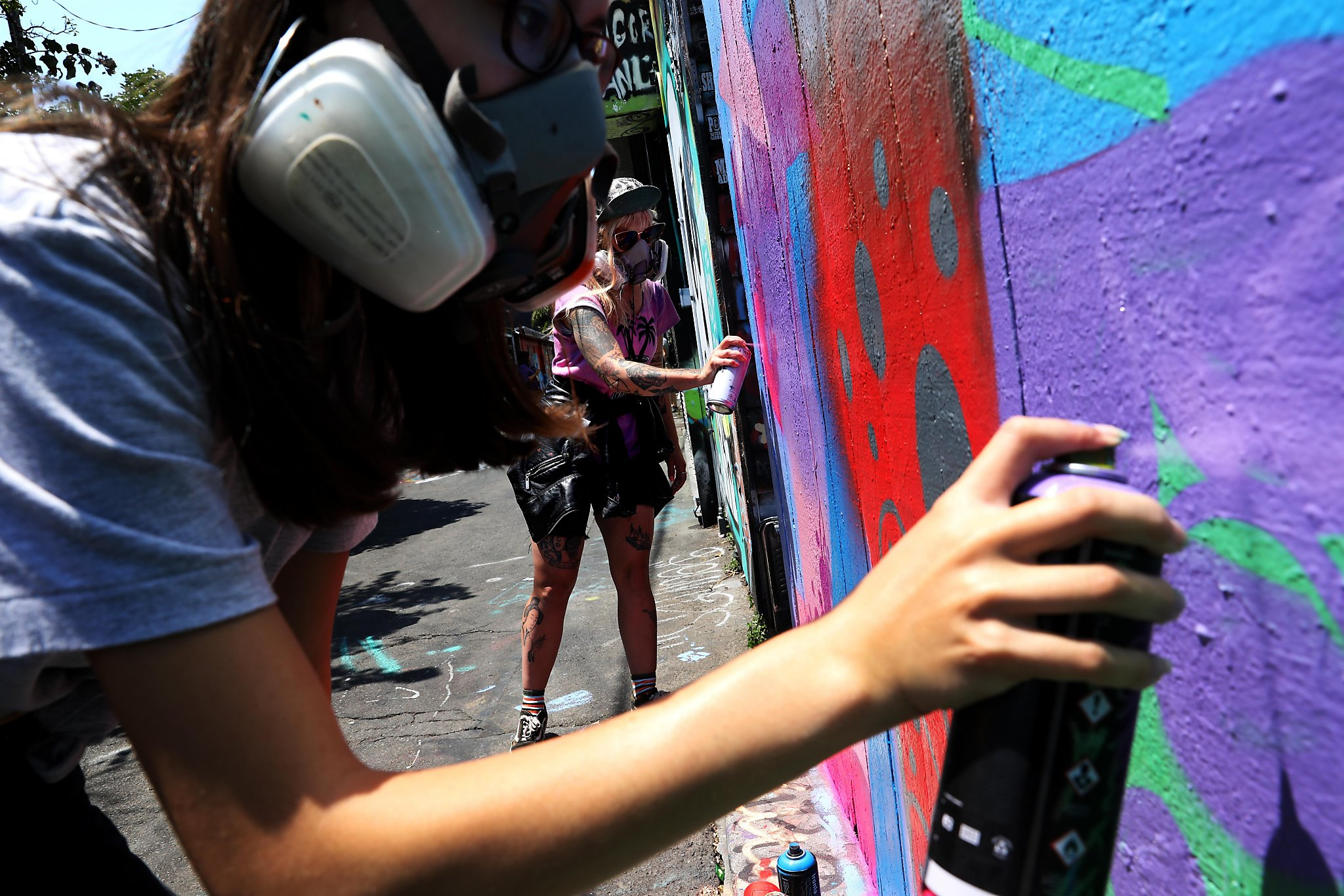Graffiti camp for girls teaches how to break into boys club of street art