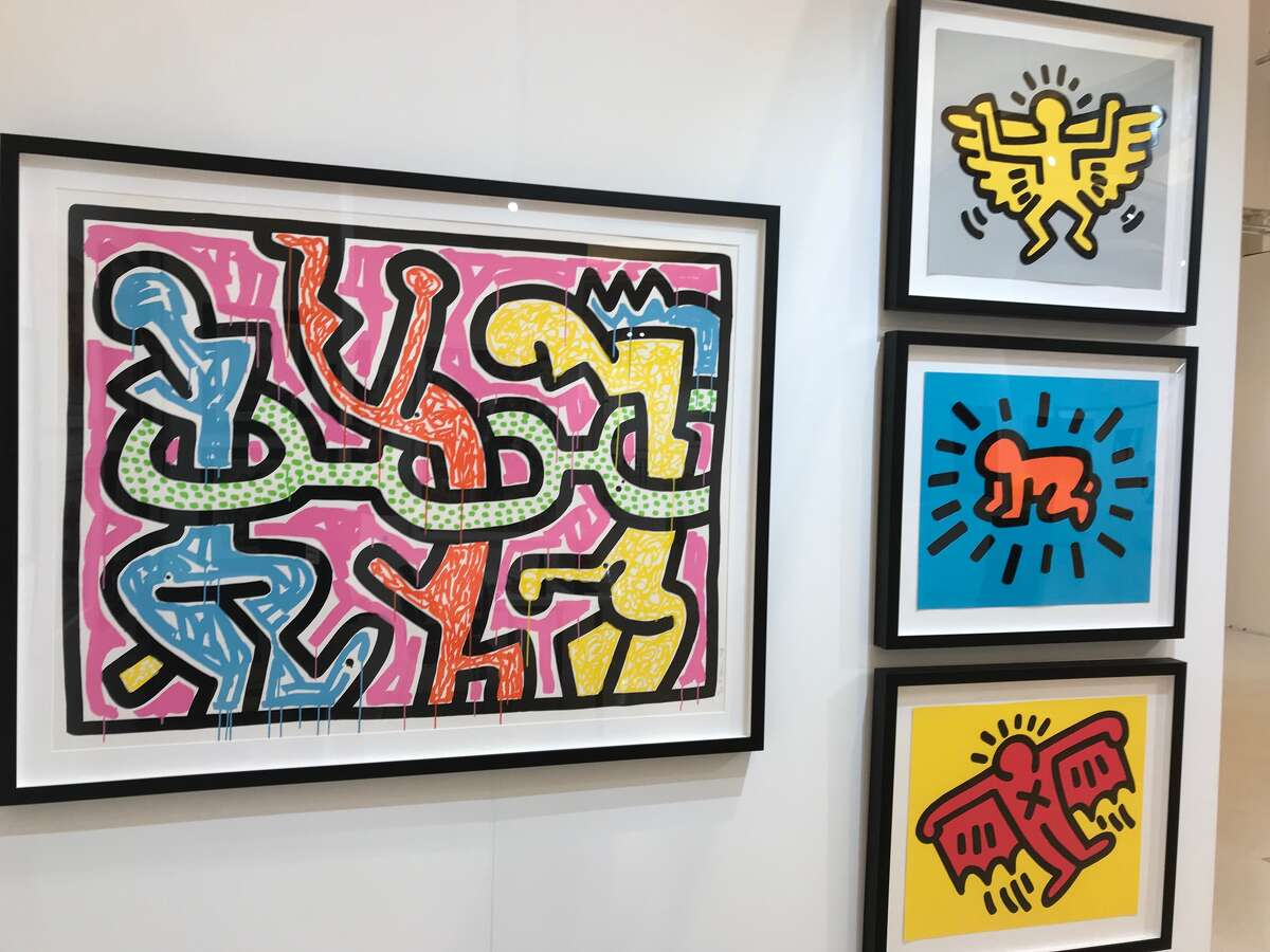 Keith Haring works will be available at REVEAL International Contemporary Art Fair at the Saratoga Springs City Center this weekend.