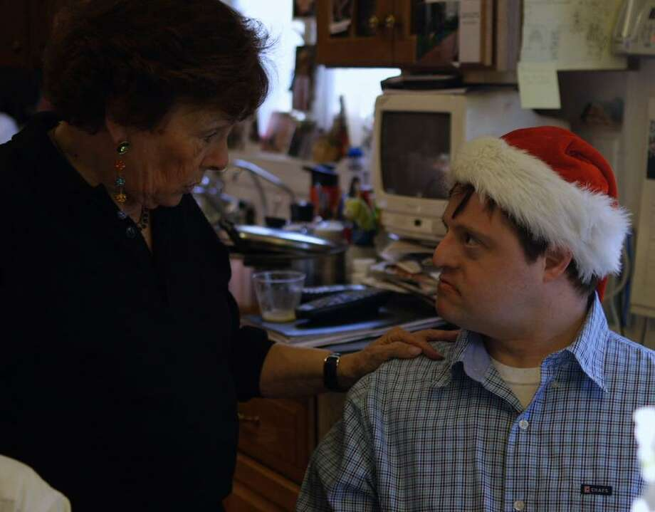 """Emily Perl Kingsley talks to son Jason in """"Far From the Tree."""" Photo: Sundance Selects"""
