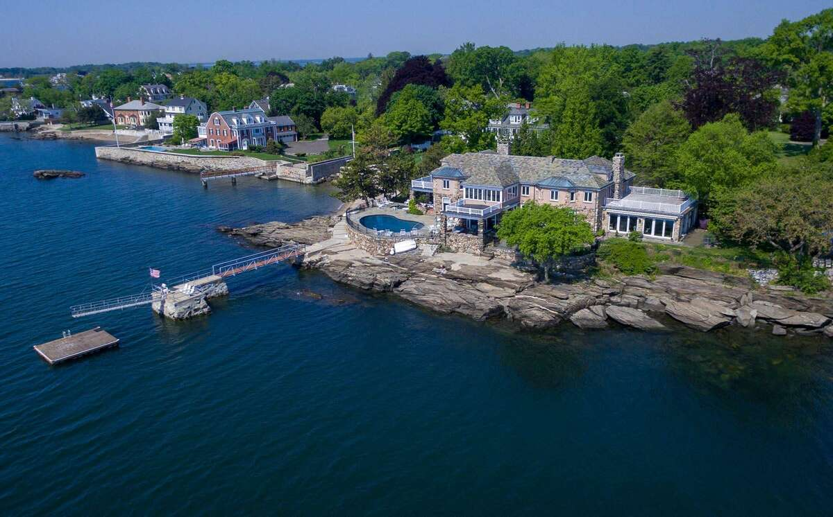 """Edwin and Alice Binney built """"Rocklyn"""" on the shores of Old Greenwich in the 1890?'s. As its name implies, it is as sturdy as a rock. It was substantially re-built after a fire in 1927 by a prominent architect, George Chappell."""