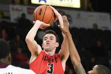 Fairfield's Tyler Nelson puts up a shot against Iona in the Metro Atlantic Athletic Conference Tournament's championship game at the Times Union Center on March 5 in Albany N.Y.