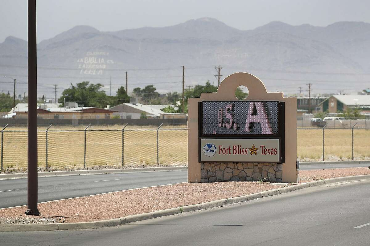 FORT BLISS, TX - JUNE 25: An entrance to Fort Bliss is shown as reports indicate the military will begin to construct temporary housing for migrants on June 25, 2018 in Fort Bliss, Texas. The reports say that the Trump administration will use Fort Bliss and Goodfellow Air Force Base to house detained migrants as they are processed through the legal system. (Photo by Joe Raedle/Getty Images)