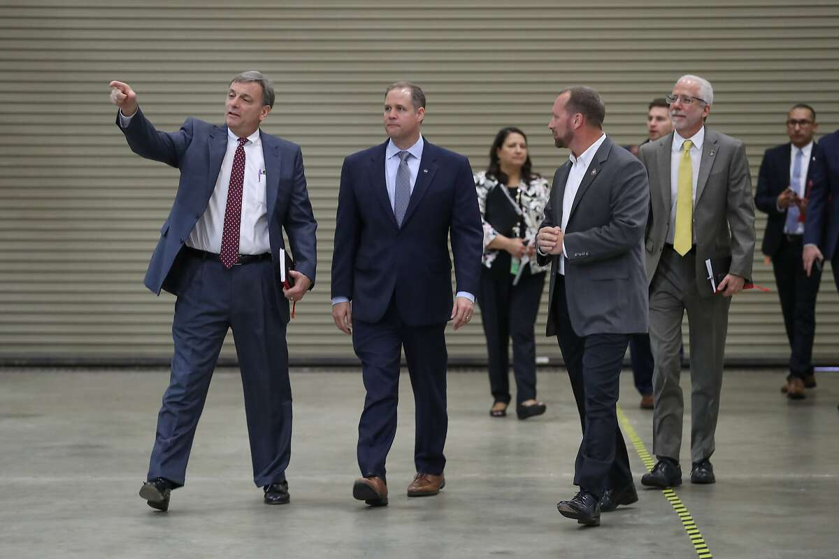 NASA Administrator Jim Bridenstine, second from left, said Thursday some commercial companies already have expressed interest in this idea, and they're submitted plans to the agency on how to accomplish this feat. >>See photos of life inside and outside the International Space station over the years in the following photos...