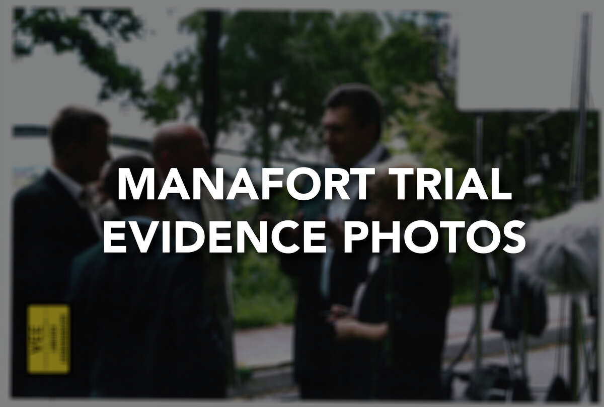 The government has submitted these photos as evidence in their case against Paul Manafort.