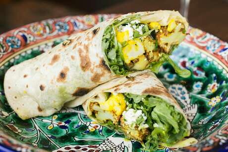 The Steph Curry flatbread wrap at Dyafa. Photo: Jen Fedrizzi / Special To The Chronicle