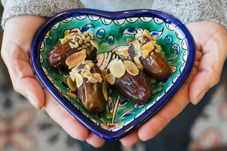 Tamareen, stuffed dates, at Dyafa in Oakland. Photo: Jen Fedrizzi / Special To The Chronicle