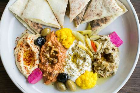 The Mezze platter at Dyafa in Oakland. Photo: Jen Fedrizzi / Special To The Chronicle