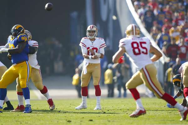 82fcbe37360 Swooning over Garoppolo  Tight end is right with you - SFChronicle.com