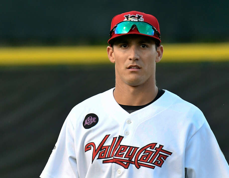 ValleyCats OF Alex McKenna, a line-drive hitter at Cal Poly, has worked on elevating the ball in the pros. (Hans Pennink/Special to the Times Union) Photo: Hans Pennink