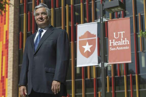 Francisco Cigarroa, former UT System chancellor and current UT Health San Antonio president, poses Thursday morning, July, 12, 2018 for a portrait on the UT Health San Antonio Medical Center campus.