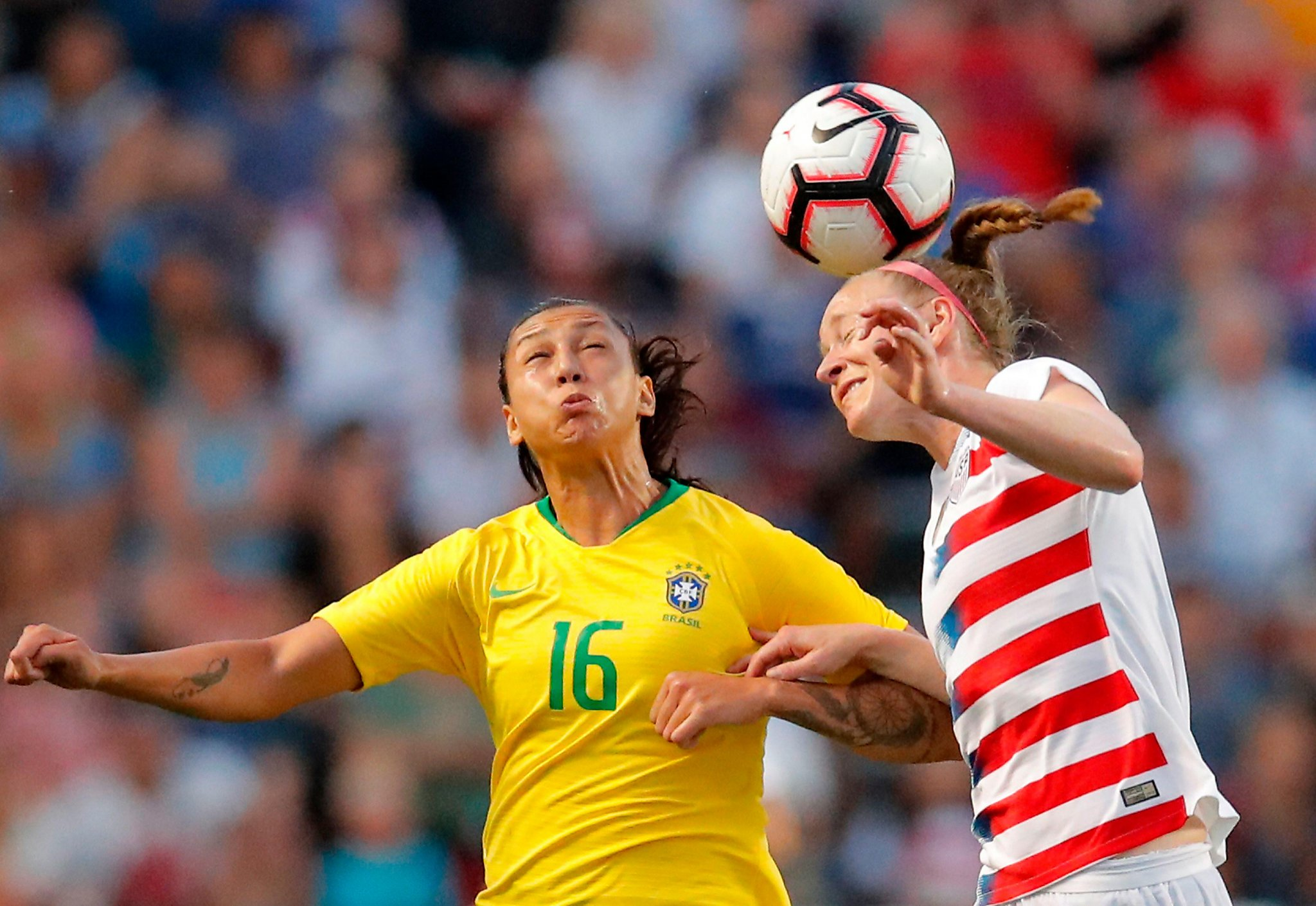 US women's soccer team beats Brazil for Tournament of Nations title