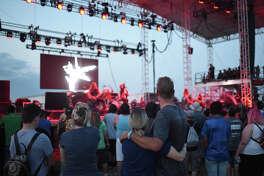 The band Demon Hunter performs during the Rock The Desert christian music festival Aug. 2, 2018. James Durbin/Reporter-Telegram