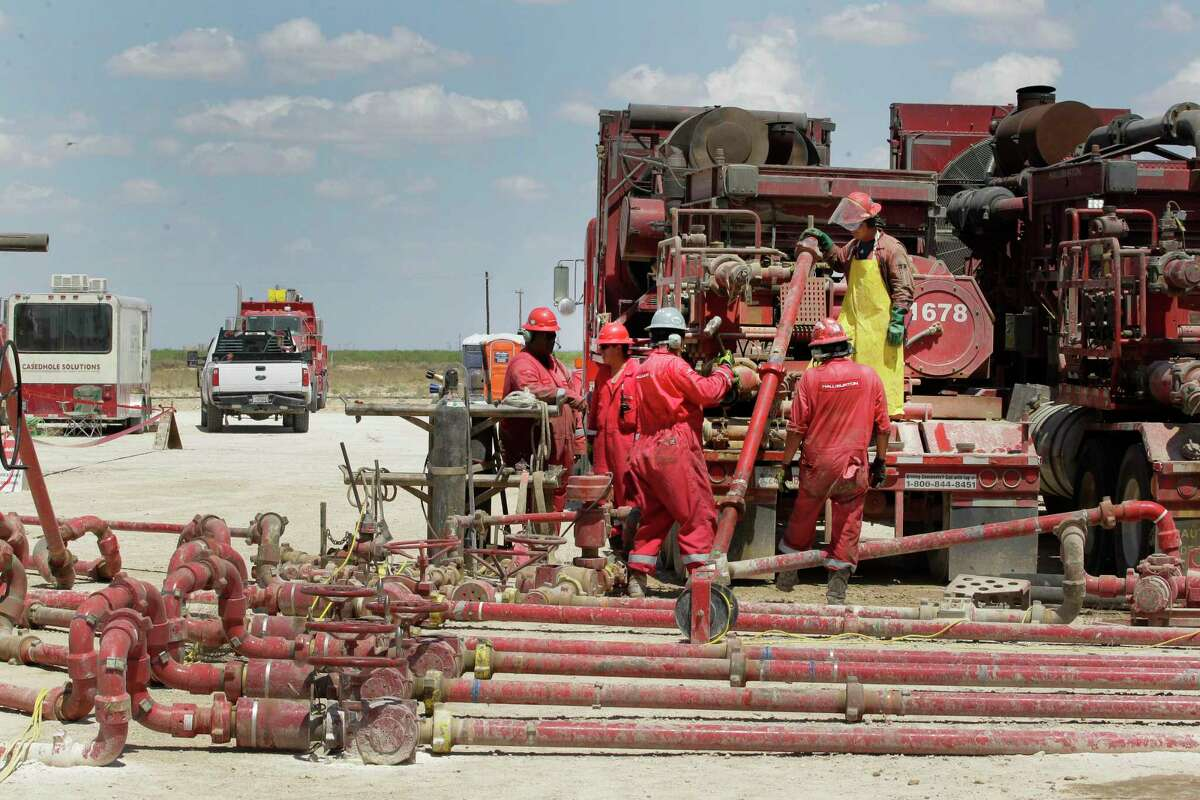 This file photo shows fracking activities in Pecos. Oil field services companies appear to have turned the corner after getting hard hit by the pandemic-driven oil bust.