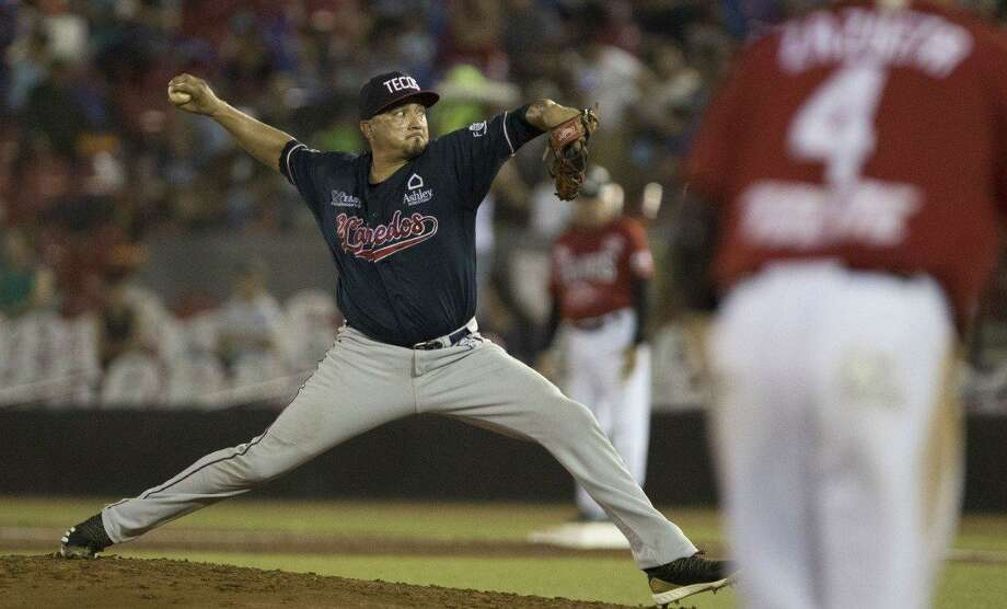 Jose Oyervides remained 0-0 for the season Thursday holding the Toros de Tijuana to three runs off seven hits and a walk in five innings as the Tecolotes Dos Laredos won 8-3 to get within a game of second place at the midway point of the LMB's second season. Photo: Courtesy Of The Tecolotes Dos Laredos