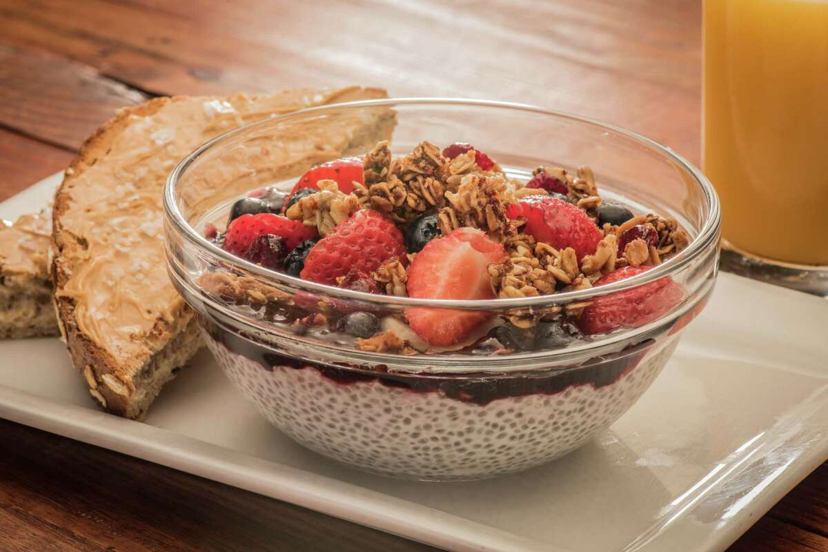 First Watch, a breakfast/lunch/brunch concept will open a new store on Aug. 6 at 13325 Westheimer in Market Square at Eldridge Parkway. Shown: AM SuperFoods Bowl (coconut milk chia see pudding with fresh berries.