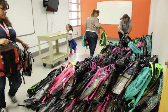 Hurricane Harvey strained the financial resources for hundreds of families in Pasadena ISD. Working with the school district to identify those needs, the BakerRipley Cleveland Campus has partnered with local agencies to fill the gaps. One of those sponsors, First Methodist Church in Pasadena, recently delivered 300 backpacks to the center.