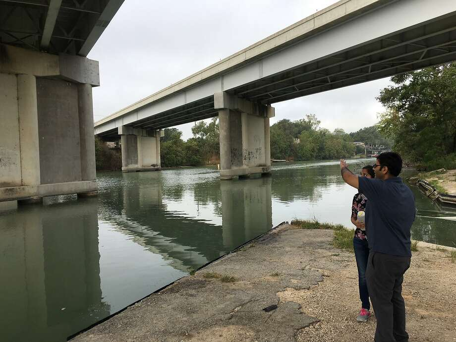 UTSA professor Vikram Kapoor, with a team of students, found high levels of fecal bacteria in the Guadalupe River following Hurricane Harvey. Photo: Contributed UTSA