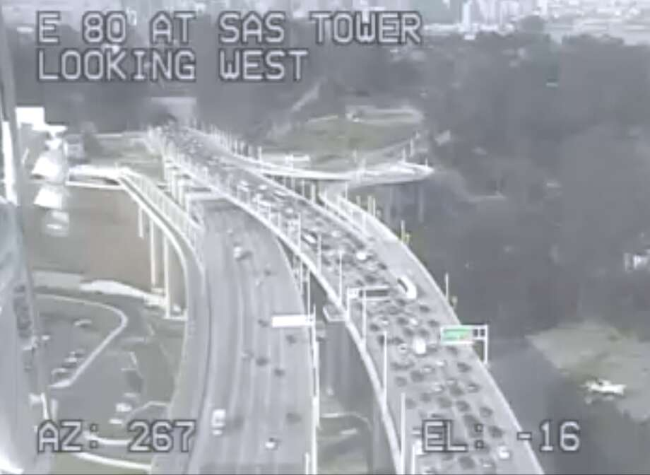 Bay Bridge traffic snarled by motorcycle trapped under big