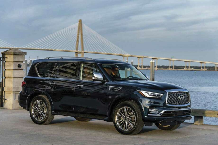 The QX80 got a major makeover for 2018, but drops back to a two-model lineup — one with rear-wheel drive and one with four-wheel drive. Prices begin at $64,750 (plus $1,295 freight) for the two-wheel-drive model. (Infiniti photo)