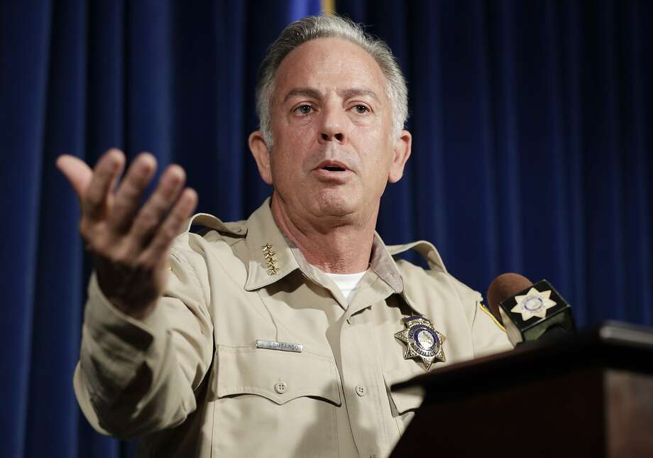 Clark County Sheriff Joe Lombardo discusses the investigation into the Oct. 1 shooting in Las Vegas that killed 58 people. The gunman, Stephen Paddock, was found dead from a self-inflicted gunshot. Photo: John Locher / Associated Press