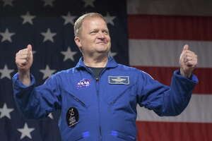 HOUSTON, TX - AUGUST 3:  In this NASA handout, NASA astronaut Eric Boe is seen during a NASA event were it was announced that he, Boeing astronaut Chris Ferguson, and NASA astronaut Nicole Aunapu Mann are assigned to the Boeing CST-100 Starliner Crew Test Flight to the International Space Station, Friday, Aug. 3, 2018 at NASAs Johnson Space Center in Houston, Texas. Astronauts assigned to crew the first flight tests and missions of the Boeing CST-100 Starliner and SpaceX Crew Dragon were announced during the event.