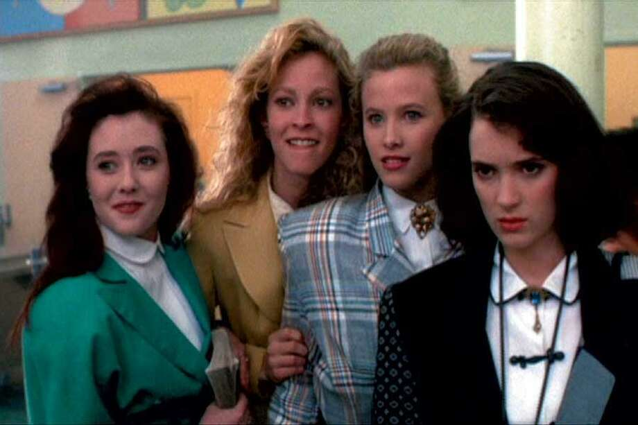 """Heathers,"" a likely pick, stars Shannen Doherty, Kim Walker, Lissane Falk and Winona Ryder. Photo: New World Pictures 1989"