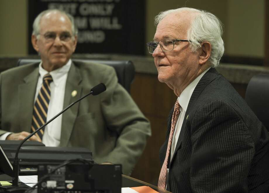 Midland County Judge Mike Bradford and other commissioners vote 08/03/18 on giving more than $11 million in sales tax money to area groups serving county residents. Tim Fischer/Reporter-Telegram Photo: Tim Fischer/Midland Reporter-Telegram