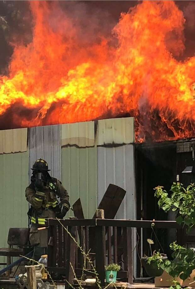 The East Montgomery County Fire Department responded to a residential fire came in at 12:45 p.m. on Thursday on Short St. in Patton Village. Photo: Courtesy Of The East Montgomery County Fire Department