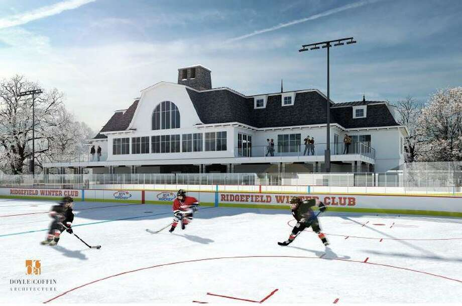 Architect's rendering of a proposed winter club on Peaceable Street in Ridgefield. Photo: Doyle Coffin Architecture / Hearst Connecticut Media / The News-Times Contributed