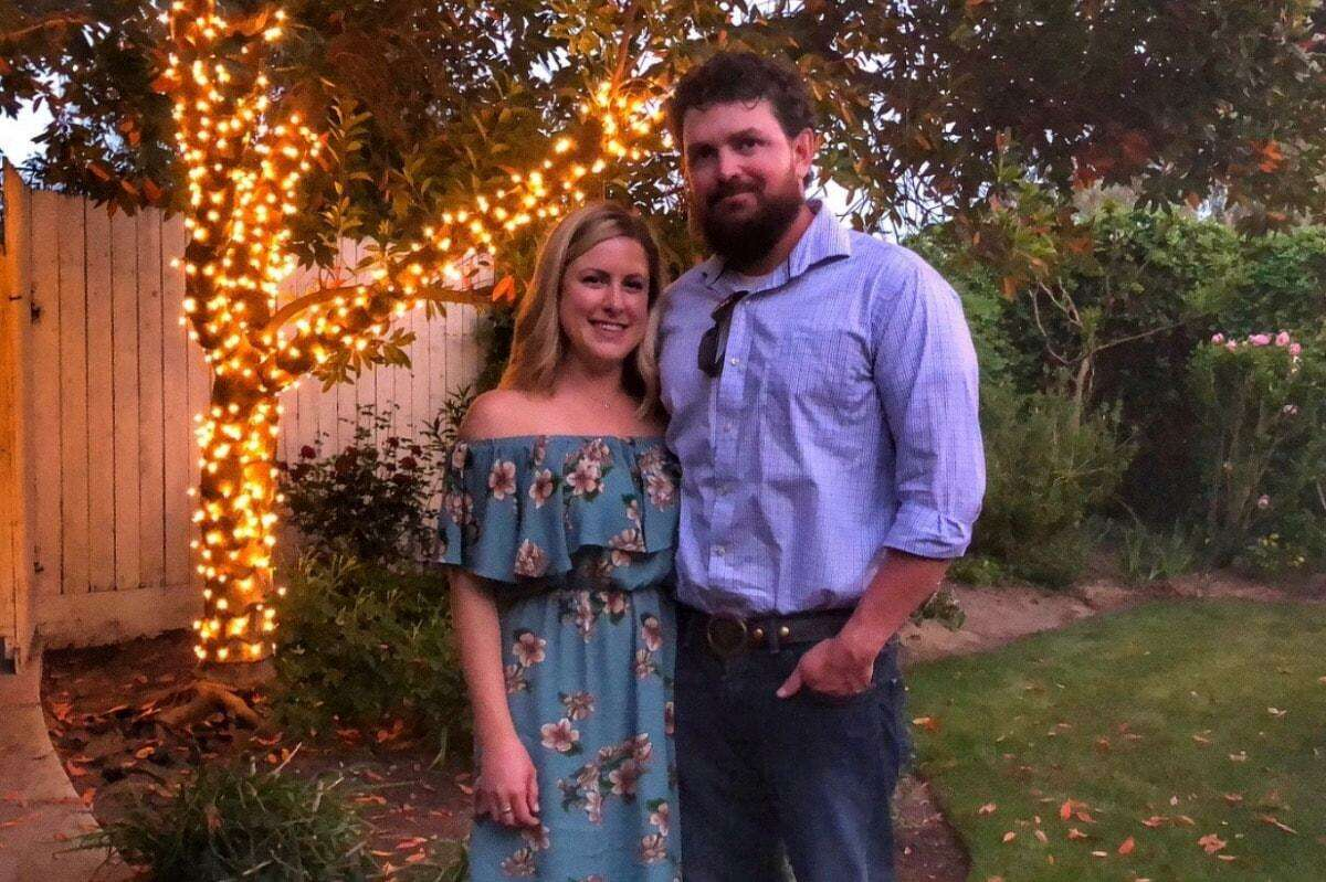 Capt. Brian Hughes and his fiancé Paige Miller, pose for a photo. Hughes, a firefighter with the Arrowhead Interagency Hotshot Crew at Sequoia and Kings Canyon National Parks, was fatally struck by a falling tree on the fire line near Yosemite while battling the Ferguson Fire in Mariposa County on Sunday, July 29, 2018.