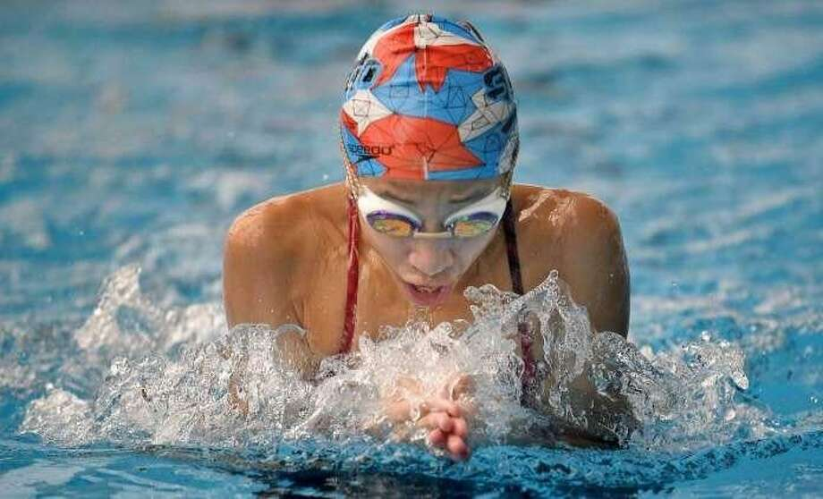 Bryce Gold won the girls 10-and-under 100-meter breaststroke title at the Connecticut Long Course Age Group Championships recently. A Stamford resident, she swims for the Stamford Sailfish Aquatic Club squad. Photo: Contributed Photo / Greenwich Time Contributed