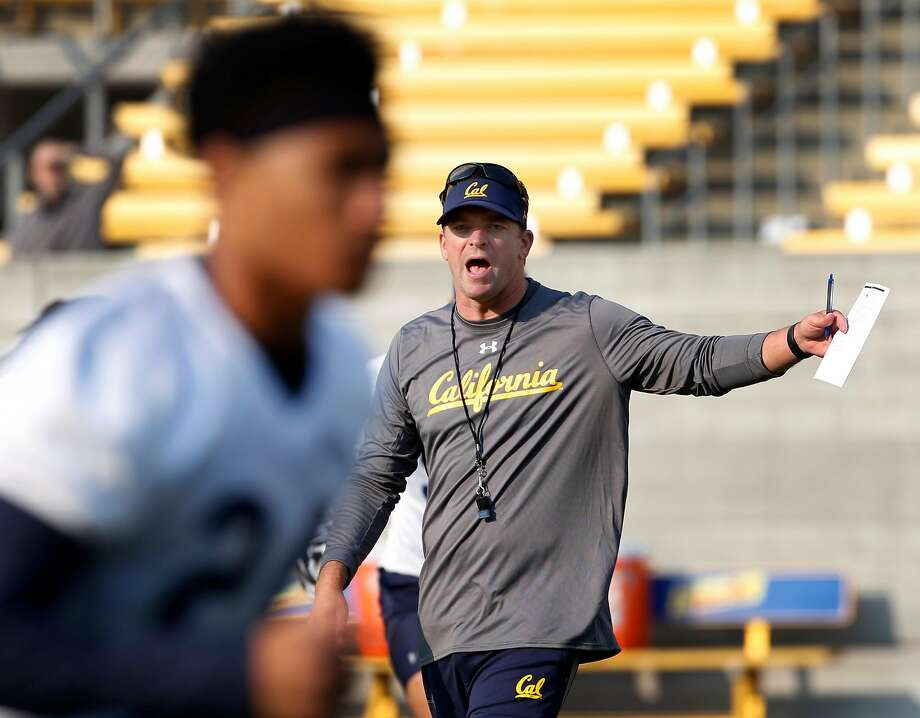 Head Coach Justin Wilcox leads the first day of Cal Bears football practice at Memorial Stadium in Berkeley, Calif. on Friday, Aug. 3, 2018. Photo: Paul Chinn / The Chronicle