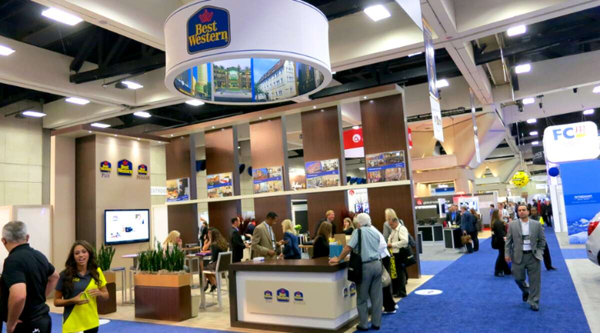 Setting up booths at trade shows is a big part of an event manager's job (Photo: Chris McGinnis)