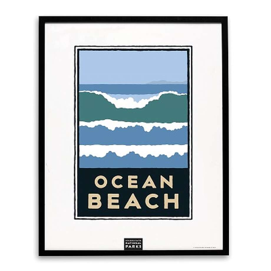Golden Gate National Parks Conservancy unveiled a new Michael Schwab print of Ocean Beach this week. It is the 21st in the series, begun in 1995 with the Golden Gate Bridge. Photo: Golden Gate National Parks Conservancy