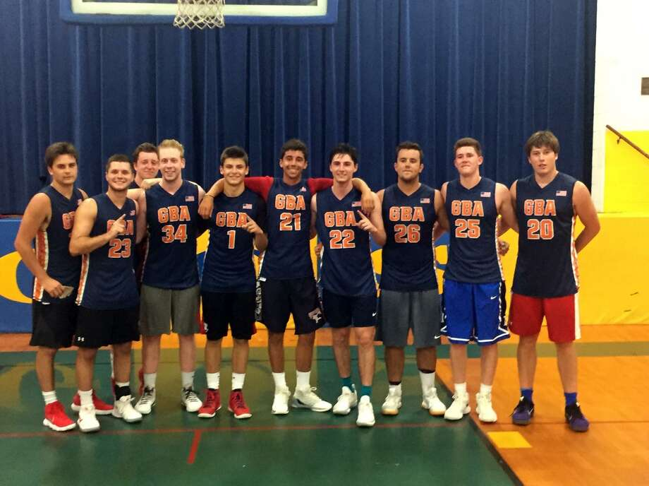 Team Carroll won the Greenwich Basketball Association's 18-22 year-old tournament Thursday night at Greenwich Catholic. Photo: Contributed Photo / Contributed Photo / Greenwich Time Contributed