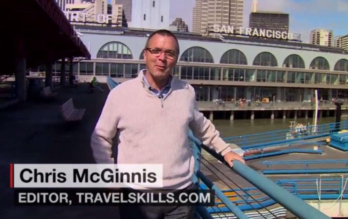 Chris McGinnis offers San Francisco tips on CNN (Image: CNN)