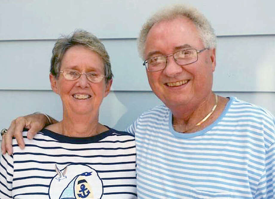 Don Cobb, of Wood River, and his wife Marsha. Cobb will work as a volunteer field marshal at next week's PGA Championship at Bellerive Country Club in St. Louis. Photo:     Submitted Photo