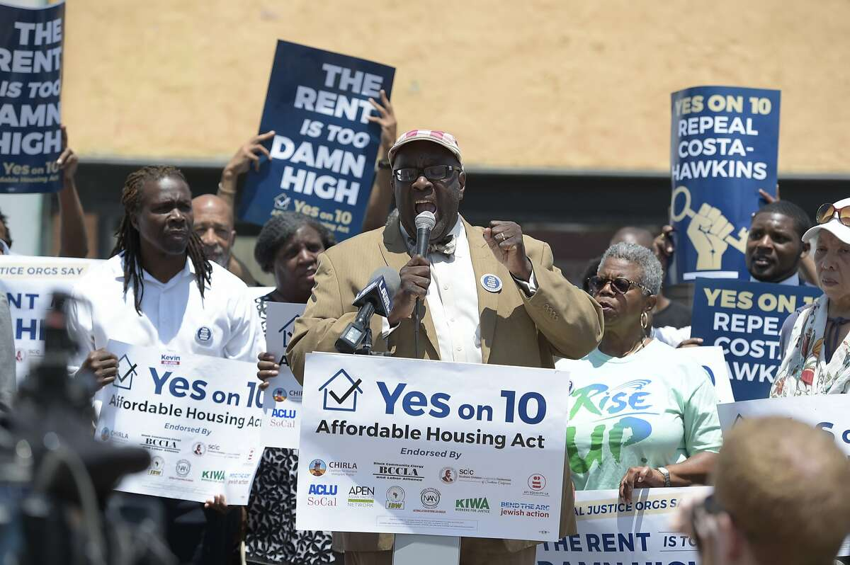 Rev. William D. Smart Jr. at the Yes on 10 campaign press conference at Vision Theater on Monday, July 20, 2018 in Los Angeles.