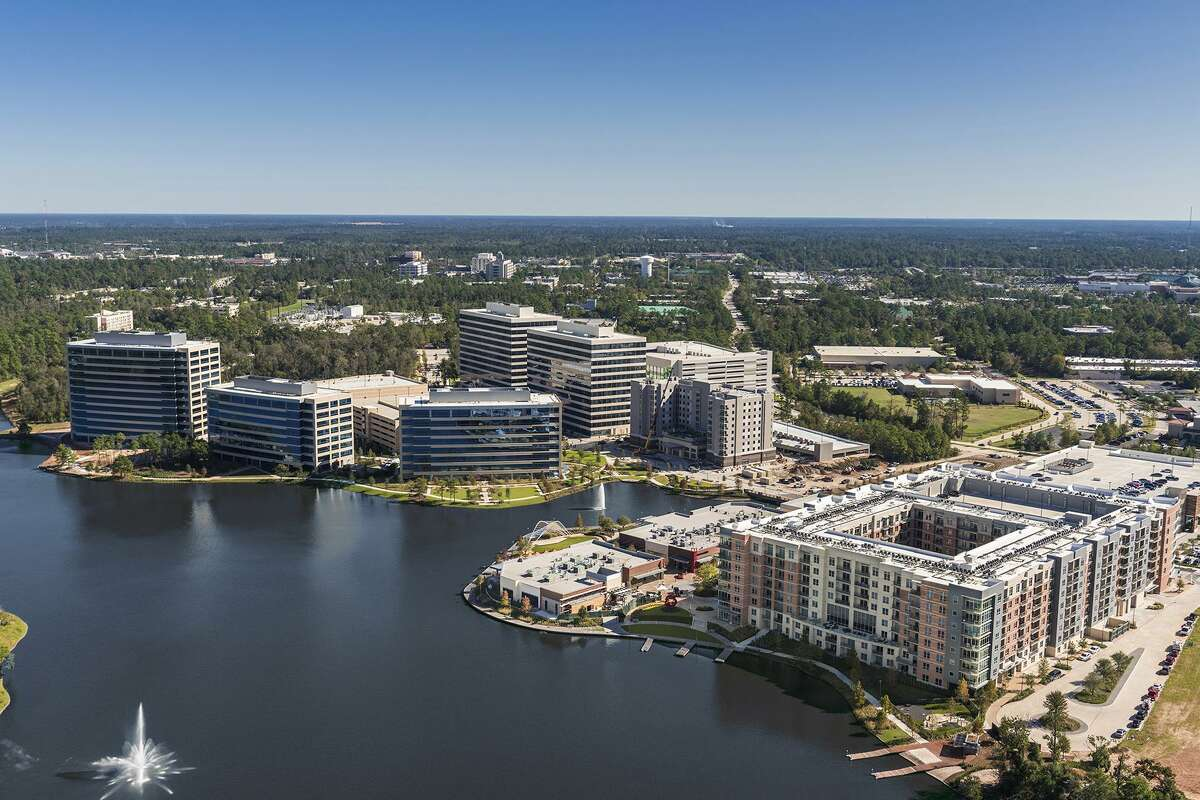 Hughes Landing is a 66-acre mixed-use development on Lake Woodlands that features a variety of shopping and fine dining options as well as an outdoor venue for concerts and events.