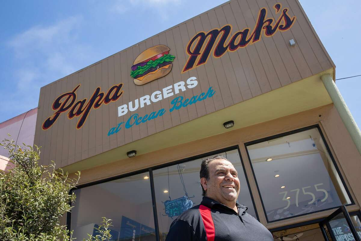 John Makhou, owner of Papa Mak's Burgers, stands for a portrait outside his business on Friday, Aug. 3, 2018, in San Francisco, Calif. The burger spot is located at 3755 Noriega St.