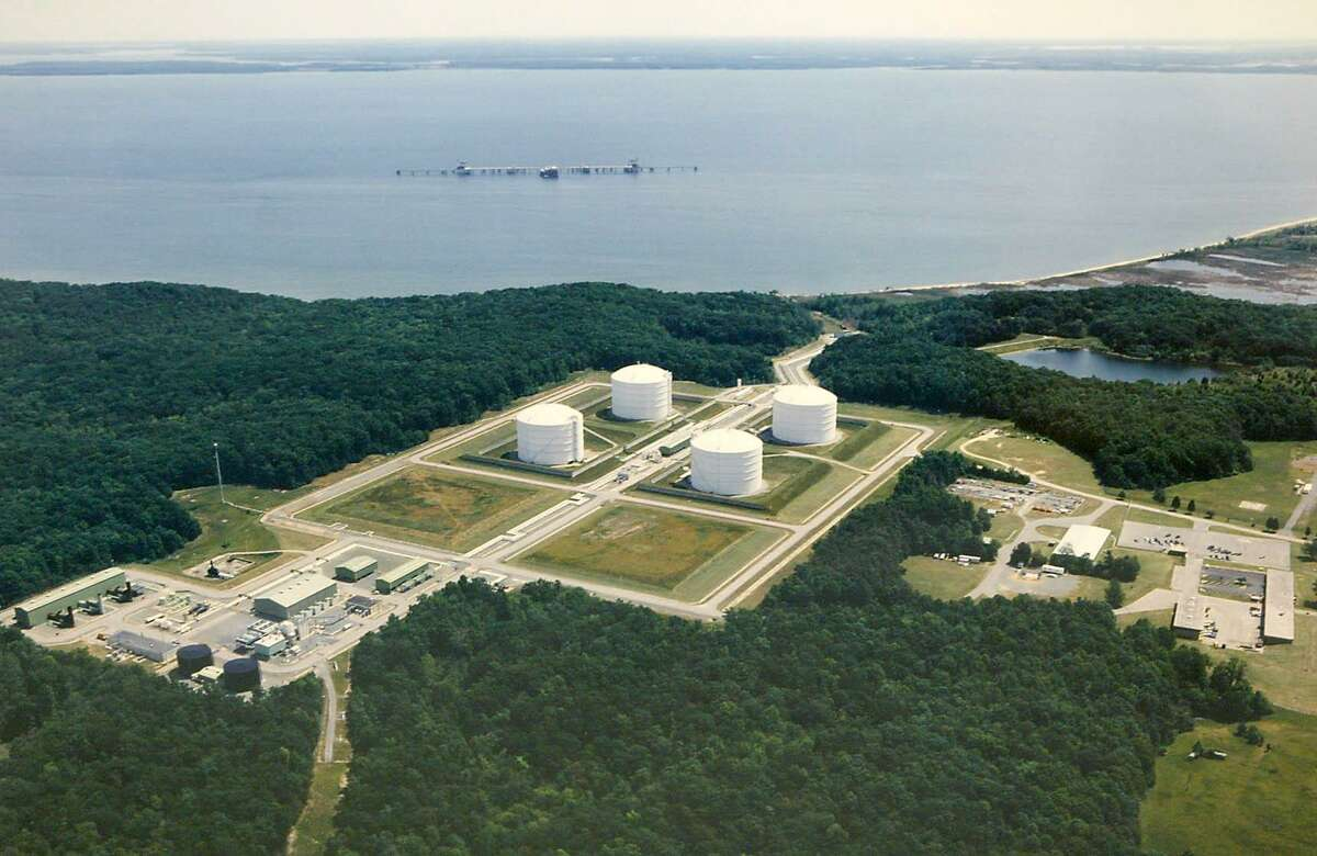 The Dominion Liquified Natural Gas facility in Cove Point, Md. China's proposal of 25 percent tariff on imports of U.S. liquefied natural gas could impede U.S. access to one of the world's largest LNG markets during a time of intense competition for global export dominance.